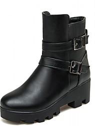 Feminino-Botas-Anabela / Botas Cano Curto / Botas Montaria / Botas da Moda / Botas de Motocicleta / Coturno / Botas de Cowboy / Botas de