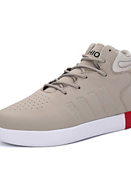 Men's Sneakers Spring Fall Winter Comfort Fabric Outdoor Casual Athletic Flat Heel Lace-up Black Red Khaki