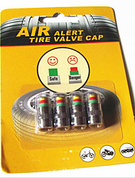 pneu de carro pressão dos pneus cap aviso automóvel de pressão de pneus tampa da válvula de detecção de tampa 4