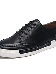 Da uomo-Sneakers-Casual-Comoda-Piatto-Scamosciato Finta pelle-Nero Blu Marrone Grigio