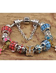 Damen Strang-Armbänder Modisch Perlenbesetzt Glas Kreisform Rot Schmuck Für 1 Stück
