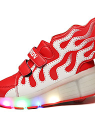 LED's Shoes Girl's Flats Summer Roller Skate Shoes PU Casual Flat Heel LED Blue / Yellow / Red Others