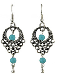 Earring Flower Drop Earrings Jewelry Women Fashion Party / Daily / Casual Alloy / Turquoise 1 pair Black KAYSHINE
