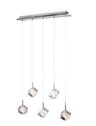 Max 10W Pendant Light ,  Modern/Contemporary / Island Chrome Feature for Crystal Metal Dining Room / Kitchen