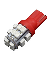 4 x t10 W5W 2825 192 194 168 501 20 carro smd led vermelho lado cunha lâmpada 12v