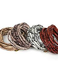beadia 6мм круглый кожа искусственная змея пу кожаный шнур (3mts)