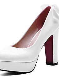 Women's Heels Spring / Summer / Fall Heels / Platform /  Wedding / Party & Evening / Dress Chunky HeelBowknot /