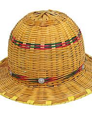 Verão capacete de segurança de bambu respirável