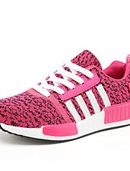 Da donna-Sneakers-Sportivo-Ballerine-Piatto-Tulle-Nero / Rosso