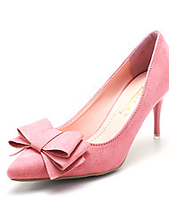 Women's Heels Spring Stiletto Bowknot Fleece Heel for Casual/Dress More colors available