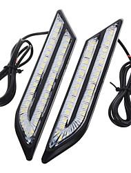 exLED Universal Waterproof White/Blue/Red 66-LED Daytime Running Fog Lights for Car (Pair)
