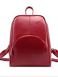 Damen Leinwand Alltag Im Freien Rucksack Rot