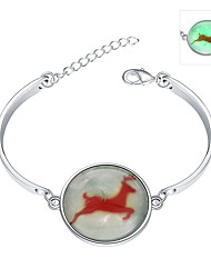 Lureme® New Magical Glow in The Dark 925 Sterling Silver Merry Christmas Luminous Charm Bracelets