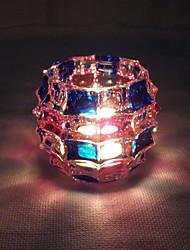 1pc водить батареи оригинальность домашней мебели из стекла канделябр свет ночи (случайный цвет)