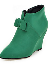 Women's Boots Spring / Fall / Winter Fashion Boots Fleece Wedding / Outdoor / Party & Evening / Dress / Casual Wedge