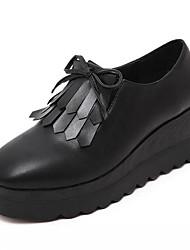 Homme-Extérieure-Noir-Plateforme-Creepers-Sneakers-Similicuir