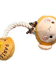 dessin animé petstyle corde peu en peluche jouets de divertissement de chien en peluche