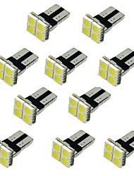 10pcs 4SMD T10 5050 di colore led bianchi laterali auto cuneo luci luce di posizione lampadina targa 12v
