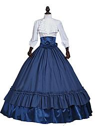 Steampunk®Civil War Victorian 3PC  Southern Belle Tartan Dress Women Halloween Costume