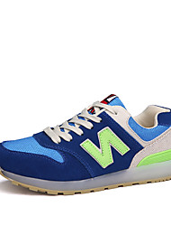 Men's Sneakers Spring / Fall Comfort Fabric / Tulle Athletic Flat Heel LED Blue / Green / Orange Sneaker
