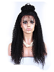 "120% Density Brazilian 6A Kinky Curly Lace Front Human Hair Wigs Kinky Curly Lace Wig 20""-24"""