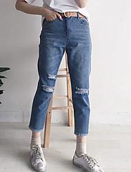 Damen Hose - Einfach Jeans Baumwolle Dehnbar