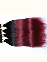 Farbe des Tones zwei Haar # 1b / 99j 4pieces viel 7a unverarbeitete peruanisches Menschenhaar Omber Haar peruanische reine Haar glattes