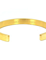 Women's Cuff Bracelet Stainless Steel Gold Plated Fashion Silver Golden Rose Gold Jewelry 1pc