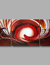 "Stretched (Ready to hang) Hand-Painted Oil Painting 56""x28"" Canvas Wall Art Modern Abstract Red Brown Black"