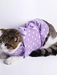 Katzen Hunde Pullover Pyjamas Hundekleidung Winter Frühling/Herbst Gepunktet Niedlich Lässig/Alltäglich Grau Purpur Grün Blau Rosa