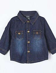 Jungen Jeans-Lässig/Alltäglich einfarbig Baumwolle Herbst Blau
