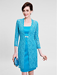Women's Wrap Coats/Jackets 3/4-Length Sleeve Lace Jade Wedding / Party/Evening V-neck 39cm Lace Clasp