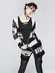 el punk-004 m de la vendimia de las mujeres del delirio / atractiva inelástica jersey de manga larga medio