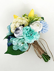 "Wedding Flowers Bouquets Wedding Polyester 7.09""(Approx.18cm)"