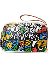 Flower Princess® Women Canvas Clutch Multi-color-A201110384