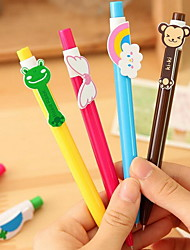 Rainbow Pen Six Cartoon Ball-Point Pen Animal Wings (random color)