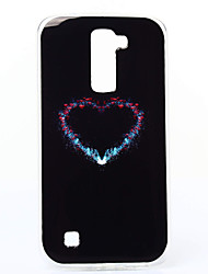 Para Funda LG Carcasa Funda Diseños Cubierta Trasera Funda Corazón Suave TPU para LG LG K10 LG K7