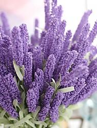1 1 Ramo Poliéster Lavanda Flor de Mesa Flores artificiais 51cm