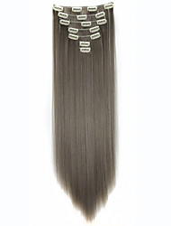 Clip in Hair Extensions 22inch 7pcs/set 130g Heat Resistance Fibre Straight Hair Clip In Synthetic Hair Extensions