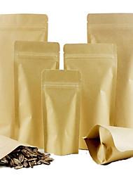 Kraft Paper Bags Food Bags Of Seeds Coated Kraft Paper Inner Foil Bags Ziplock Closure Pockets A Pack Ten 9 * 14 *3