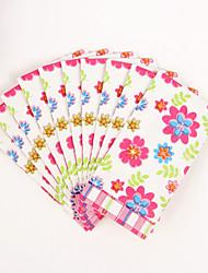 100% virgin pulp 50pcs Colorful flowers Wedding Napkins