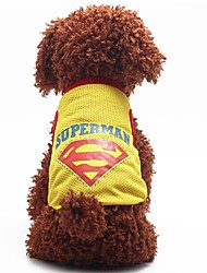 Fashion Summer Breathable Cotton  Dog Clothes Sport Style Vest T-shirt