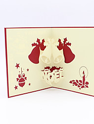 Paper Craft 3D Pop-up Greeting Card For Christmas