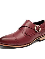 Men's Loafers & Slip-Ons Spring / Fall Comfort Cowhide Casual Flat Heel Hook & Loop Black / Brown / Yellow Others