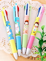 Коррекция Поставки Шариковые ручки,Пластик Красный / Черный / Синий / Зеленый