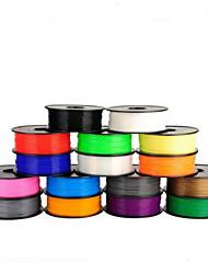 suministros de impresión de un kilogramo pla 1.75mm el 3D suministros de la impresora 3D (colores aleatorios)