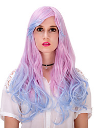 Pink blue gradient long hair wig.WIG LOLITA, Halloween Wig, color wig, fashion wig, natural wig, COSPLAY wig.