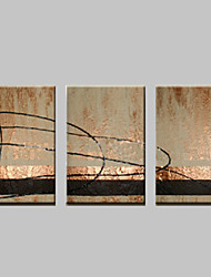 VISUAL STAR®Abstract Oil Painting Hand-Painted Canvas Wall Art Three Panels Ready to Hang