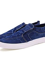 Men's Loafers & Slip-Ons  Comfort / Round Toe / Closed Toe Denim Casual Flat Heel Others Blue / Khaki