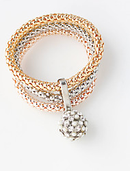 Bangles 1set,Golden Bracelet Fashionable / Double-layer Round 514 Alloy Jewellery